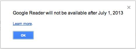 Googleリーダーが廃止になると聞いて困ってる件
