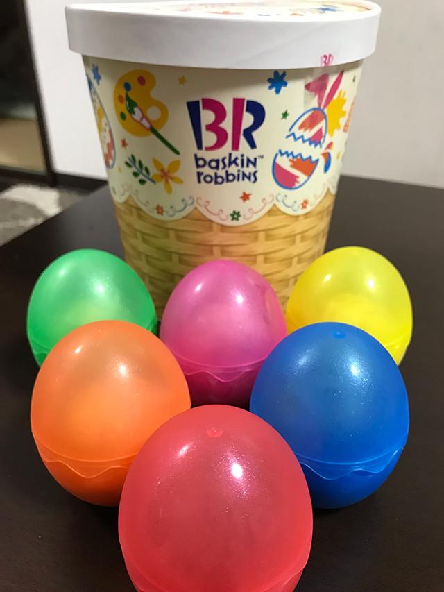 食べた後も楽しめる!子供たちが喜ぶサーティワンアイスクリームのイースターペインティングフィーバー エッグハントバスケットを買ってみた!