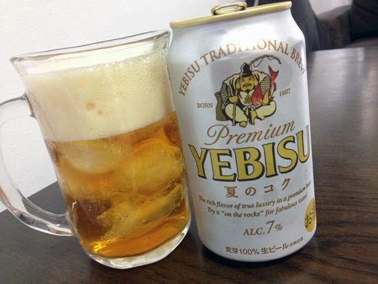 ロックで飲む銀エビス!夏のギフト限定「エビス 夏のコク」を飲んでみた!
