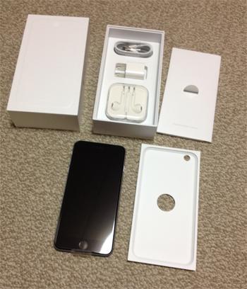 iPhone 6 Plus開封