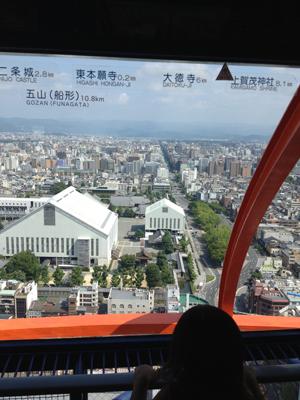 京都タワーの景色