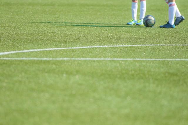 ジュニアサッカー試合観戦