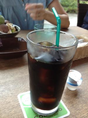 グリーンハウスコラボのアイスコーヒー